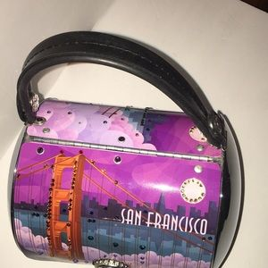 San Francisco bridge liecense plate bag